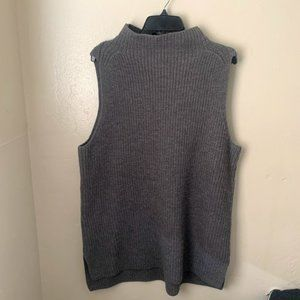 Classiques Entier  Ribbed High Neck Sweater Gray